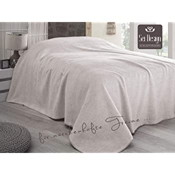Sei Design Plaid Adina Tagesdecke Wohndecke Flauschig Weich Hochwertige Verarbeitung Mit Streifenmuster 200 X 230 Cm