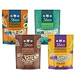 3Bears Porridge fabelhaftes 4er-Mischpaket - Feiner Kakao Fruchtige Kokosnuss Mohnige Banane Kerniger Klassiker Viel...