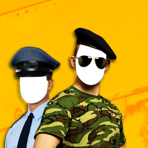 Polizei & Armee-Foto-Montage (Marines Junge Uniform)