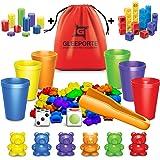 Gleeporte Contar con los Osos de Colores coordinados Ordenación de Las Copas Montessori clasificación y conteo de Juguetes ed
