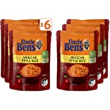 Uncle Bens Mexican Style Rice Microwave Rice 6 x 250 g (Pack of 6 pouches)