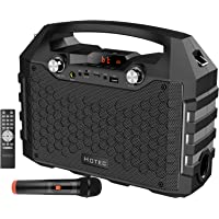 Hotec Drahtloses Portable PA Speaker System PA-Lautsprecher PA-Boxen Powerful Bluetooth Karaoke-Maschine with Drahtloses…