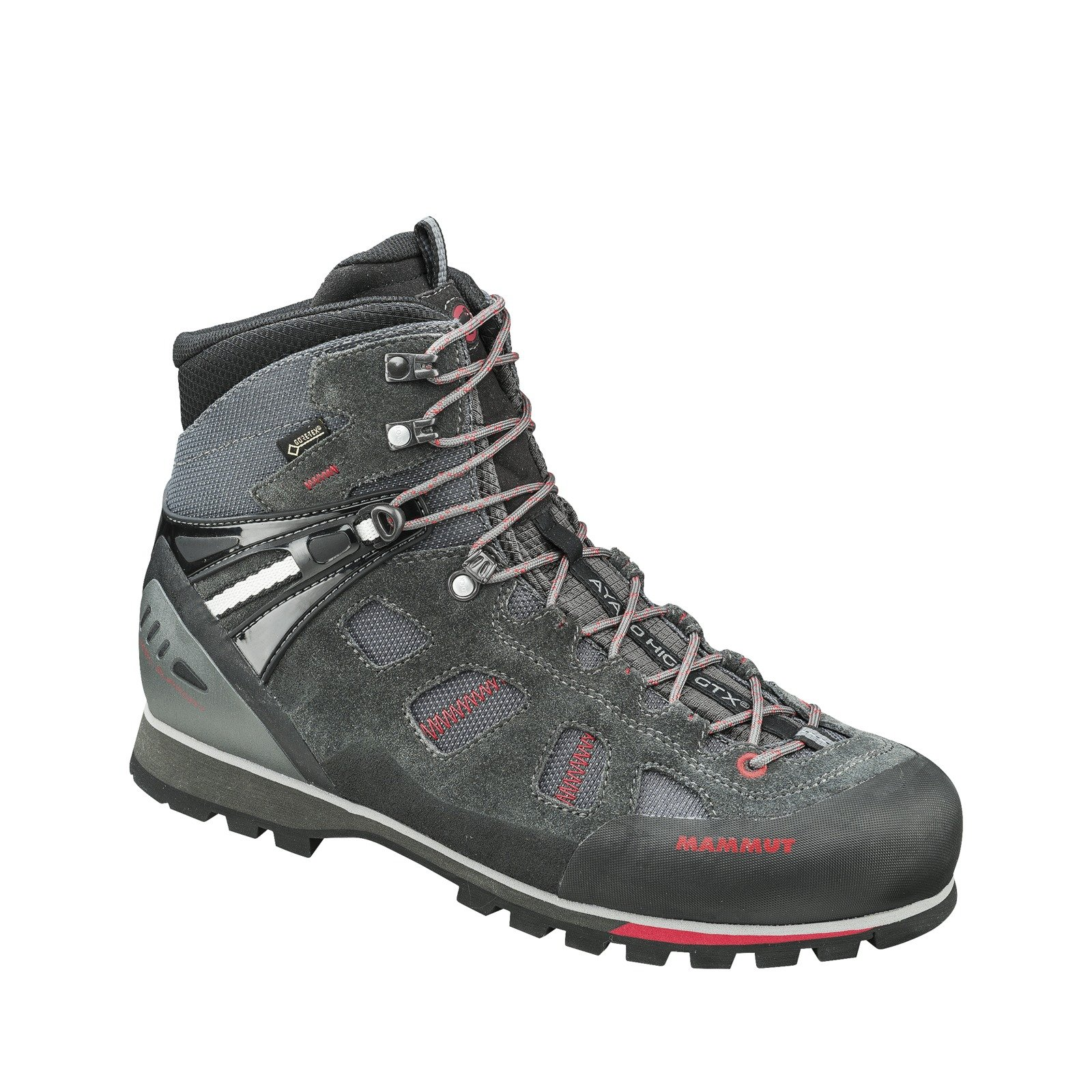 Mammut Damen Ayako High Gtx Trekking-& Wanderstiefel, Grau (Grey/Dark Barberry 000), 40 EU