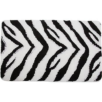 badematte im zebra design siehe beschreibung schwarz wei k che haushalt. Black Bedroom Furniture Sets. Home Design Ideas