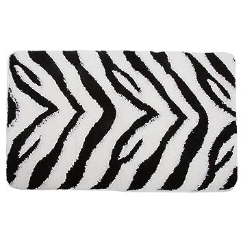 badematte im zebra design (siehe beschreibung) (schwarz/weiß ... - Küche Beschreibung