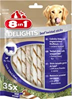 8in1 Delights Beef, gesunder Kausnack für sensible Hunde, hochwertiges Rindfleisch eingewickelt in Rinderhaut, versch....