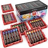 Akrylfärger Från Arteza, Uppsättning Av 60 Färger/Tuber (22 Ml, 0.74 Oz.) Med Förvaringslåda, Rika Pigment, Bleknar Ej, Giftf