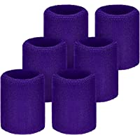6 Packung Sport Wristbands Absorbierende Schweißbänder für Fußball Basketball, Leichtathletik