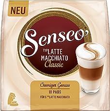 Senseo Typ Latte Macchiato Classic, 10 Pads für 5 Kaffee, 5er Pack (5 x 90 g)