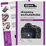 dipos I 6X Schutzfolie klar passend für Nikon D5300 Folie Displayschutzfolie