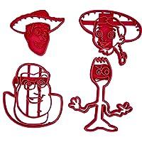 Set di 4 Tagliabiscotti con i personaggi di Toy Story 4 (Woody, Buzz Lightyear, Forky e Jessie)