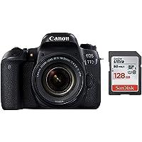 Canon EOS 77D 24.2MP Digital SLR Camera + EF-S 18-55 mm 4-5.6 is STM Lens/Camera Case + SanDisk 128GB Ultra SDXC UHS-I Memory Card - 100MB/s, C10, U1, Full HD, SD Card