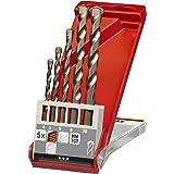 kwb Steinbohrer und Betonbohrer-Set – Werkzeug-Box, 5-teilig (Bohrer füt Stein und Beton für alle Dreh- und Schlagbohrmaschin