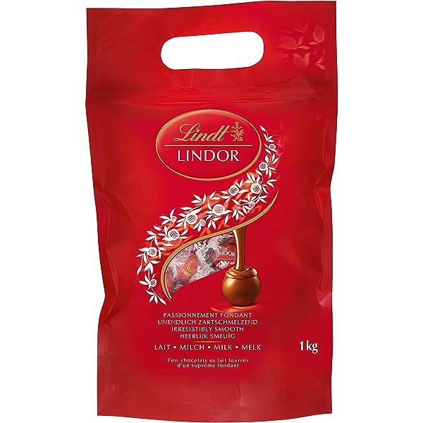 lindor lindt latte - circa 80 praline, 1 kg  idee regalo b07fggpy3n