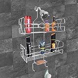 Plantex Stainless Steel 5in1 Multipurpose Bathroom Shelf and Rack/Shower Caddy/Bathroom Storage Shelf/Holder/Bathroom Accesso
