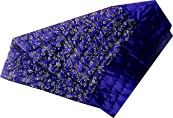 Hardev Enterprises Single Bed Silk Jaipuri Quilt/Razai(Size:85*55 inch Approx) (HRD_101013, Blue)