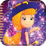 Livre de coloriage de sorcière
