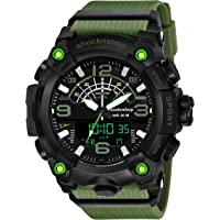 Shocknshop Analog Multifunctional Sports Digital Dial Watch for Men Boys (Black Dial and Grey Strap) -W02GRY