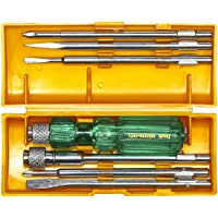 Taparia 840 Screw Driver Set with Neon Bulb (Silver and Green)