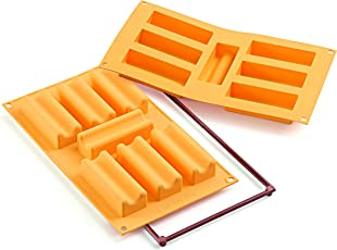 Silikomart Silikon Form Marsigliese Zahl 7, Orange