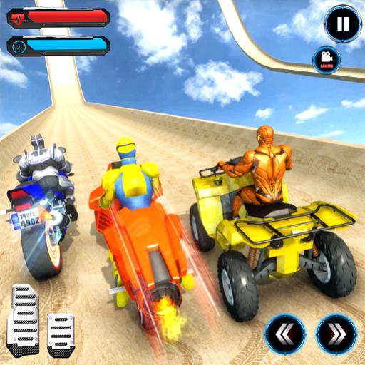 ATV Quad Bike Speed Hero Mega Ramp Stunt Games - Spider Quad
