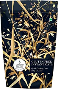 Monsoon Harvest Gluten-Free Instant Oats (500 g) - Quick and Tasty Breakfast with High Protein & Dietary Fiber, Healthy & Gluten Free Meal