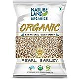 Natureland Organics Pearl Barley 500 Gm (Pack of 5) - Organic Barley