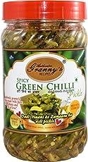 Authentic Granny's Recipes Spicy Green Chilli Pickle in Sesame Oil 500gms
