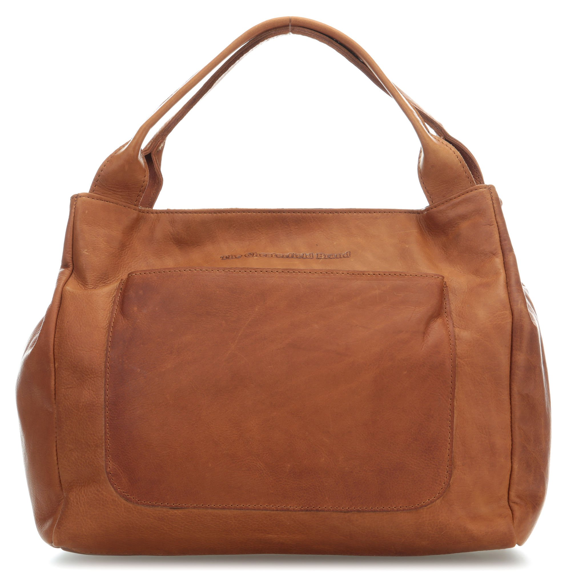 Cardiff Leder Handtasche in Cognac, TOP Qualität