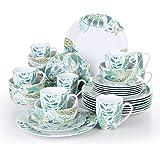 VEWEET, Série Elina, Service de Table Complet en Porcelaine, 32 Pièces pour 8 Personnes, Inclus Assiette Plate, Petite Assiet