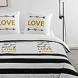 Sets de Housse de Couettes 200x200cm + 2 taies d'oreillers 65x65cm Parure de lit Imprimé Multicolore pour 2 Personnes Motif 6