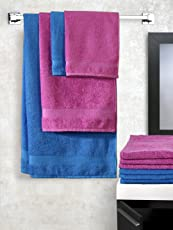 Trident Splash Solid 10 Piece 425 GSM Cotton Towel Set