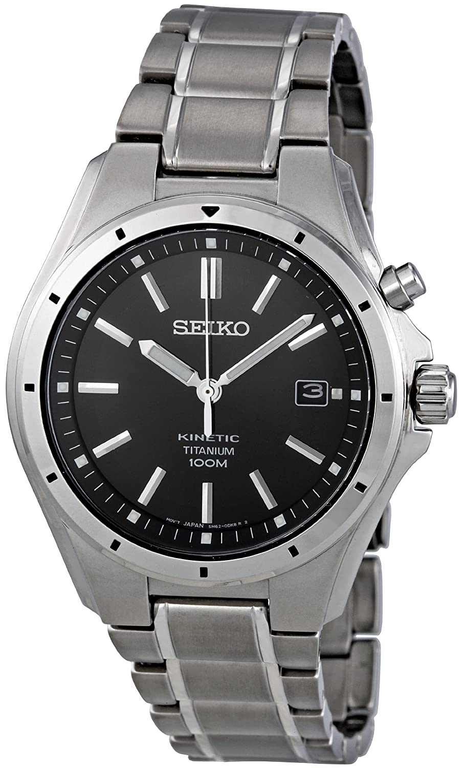 gents mens titanium seiko kinetic watch on bracelet date gents mens titanium seiko kinetic watch on bracelet date 100m water resistant ska493p1 seiko amazon co uk watches