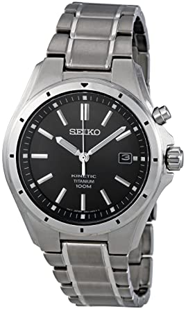 gents mens titanium seiko kinetic watch on bracelet date gents mens titanium seiko kinetic watch on bracelet date 100m water resistant ska493p1 seiko amazon co uk watches