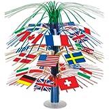 Beistle 50545 International World Flags Cascade Table Centerpiece Centrepiece, Multicolor