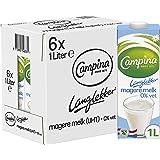 Campina Langlekker Magere Melk 0% Vet 6 x 1 L