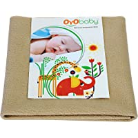 Oyo Baby Waterproof Bed Protector for Just Born Babies, Small, Beige (70 cm x 50 cm)