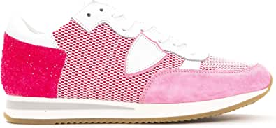 Philippe Model Sneakers Tropez L DFILET Scarpa Glitter Made in Italy Donna TRLDNG