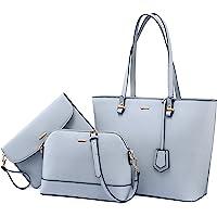LOVEVOOK Handtasche Damen Shopper Schultertasche Umhängetasche Damen Groß Damen Tasche Gross Leder Handtaschen 3…
