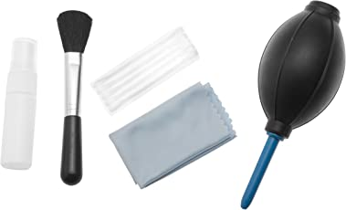Sonia 5 in 1 Cleaning Kit for Cameras Lenses, Binocluars, LCD, Laptops etc. Inludes: Air Blower, Lens Cleaning Brush, Liquid Cleaning Agent, Cleaning Cloth, Cotton Swabs.