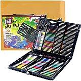 Shuban 150pcs Artist Art Drawing Sets, Colored Pencil Drawing Art Marker Pen Set with Crayon Oil Paint Brush Drawing Professi