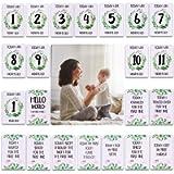 24pcs Baby Milestone Cards, Unisex Boy Girl Photo Keepsake Memory Milestone Moments Baby Shower Presents Gifts