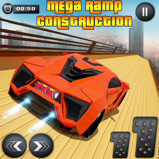 Mega Rampe extremes Auto - Autorennen unmögliches Spiel