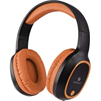 Zebronics Zeb-Thunder Wireless BT Headphone with Built-in FM,AUX Connectivity and Micro SD Card Support(Brown)