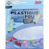 DIAM'S Plastique Fou 7 feuilles thermorétractables A4 - Transparent poncé