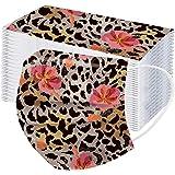 YpingLonk 10/20/100PCS Unisex Adulto Estampado de Leopardo Plus Bufanda de Flores-Moda Universal Lindo Elástico Orejeras Mant