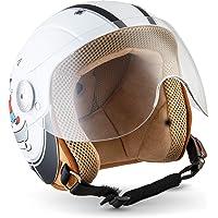59-60 cm ECE zertifiziert Roller Jet Helm mit Streifen L Motorradhelm mit Visier Vinz Rollerhelm Jethelm Fashionhelm S-XL , Amsterdam in Gr