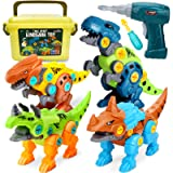 Dreamon Take Apart Dinosaur Toys for Kids with Storage Box Electric Drill, DIY Construction Build Set Educational STEM…