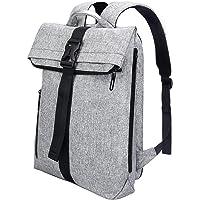Rucksack Damen Rucksack Herren Tagesrucksack Damen REYLEO für Laptop bis zu 15,6 Zoll, Modern Roll Top Daypack, Wasserabweisend, Uni (64 x 30 x 12 cm) Grau