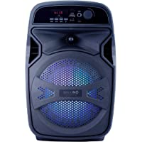 iGear Maximo - Portable Bluetooth Speaker with Corded Mic, Rechargeable 1800mAh Battery, USB and TF/SD Card Support, Aux Port, and inbuilt FM Radio, Remote Controlled.